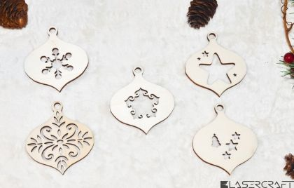 Set 5 ornamente Craciun - SC012