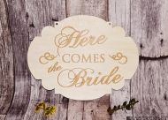 "Placuta ""Here comes the bride"" - NT006"